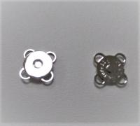 Кнопка магнитная пришивная серебро, 11 мм