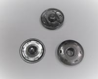 Кнопка пришивная металлическая черный никель, 25 мм