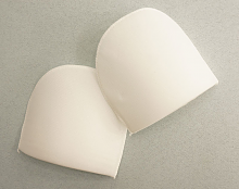 Плечевые накладки полумесяц (M) HKM, белые