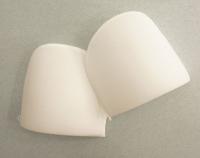 Плечевые накладки полумесяц (S) HKM, белый