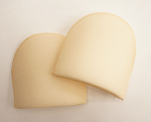 Плечевые накладки полумесяц (S) HKM, бежевые