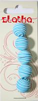 Бусины из полимерной глины, цвет голубой, 14 мм, 5 шт.