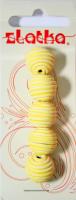 Бусины из полимерной глины, цвет желтый, 14 мм, 5 шт.