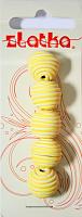 Бусины из полимерной глины, цвет желтый, 14 мм, 3 шт.