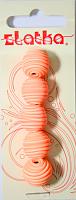 Бусины из полимерной глины, цвет оранжевый, 14 мм, 5 шт.