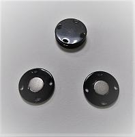 Кнопка магнитная пришивная черная, 23 мм