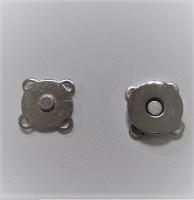 Кнопка магнитная пришивная серебро, 15 мм