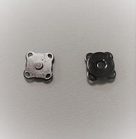 Кнопка магнитная пришивная темный никель, 11 мм