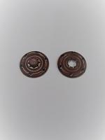 Кнопка пришивная металлическая коричневая, 22 мм