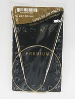 Спицы, круговые, супергладкие, никель, №6, 60 см