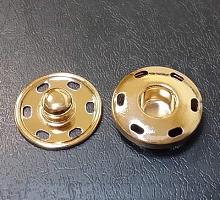 Кнопка пришивная металлическая золото, 25 мм
