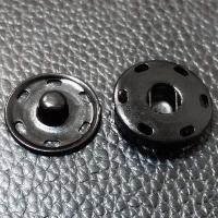 Кнопка пришивная металлическая черная, 16 мм