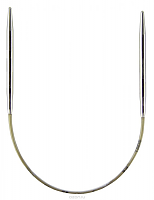 Спицы, круговые, супергладкие, никель, №12, 40 см.