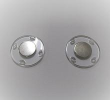 Кнопка магнитная пришивная прозрачная, 28 мм