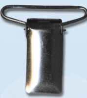 Зажим для подтяжек металлический 30 мм, черный никель