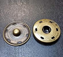 Кнопка пришивная металлическая бронза, 18 мм