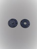 Кнопка пришивная пластик синия, 22 мм