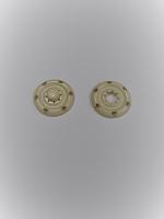 Кнопка пришивная металлическая кремовая, 18 мм