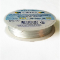 Спандекс без оплетки белый, 1 мм х 18 м