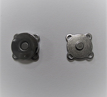 Кнопка магнитная пришивная т.никель, 15х6 мм