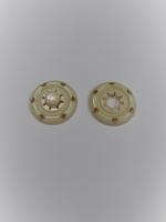 Кнопка пришивная металлическая кремовая, 22 мм
