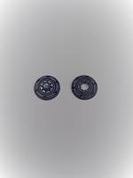 Кнопка пришивная пластик синяя, 18 мм