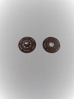 Кнопка пришивная металлическая коричневая, 18 мм
