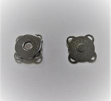 Кнопка магнитная пришивная никель, 15 мм