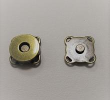 Кнопка магнитная пришивная бронза, 15 мм