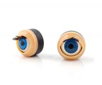 Глаза голубые с веками, ресничками, моргающие 16,8 мм.