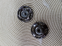 Кнопка металлическая темный никель 21мм