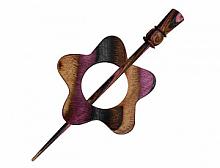 """Застежка фибула Garnet """"Lilac"""", KnitPro"""