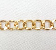 Цепь декоративная золотая, звено 18х13 мм. (цена за 1 см)