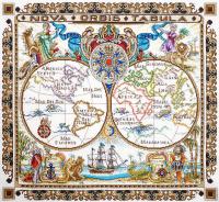 """Набор для вышивания """"Карта мира"""""""