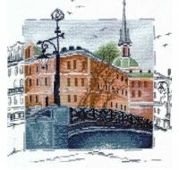 """Набор для вышивания """"Питерский мост"""" по рисунку А. Майской"""
