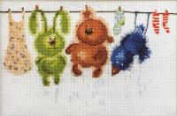 """Набор для вышивания """"Банный день"""" по рисунку В. Кирдий"""