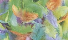 Набор перьев марабу разноцветные, 5 см
