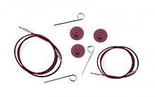 Тросик (заглушки 2шт, кабельный ключик) для съемных спиц, длина 35 (60)см