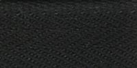 Молния RIRI металл. GO, 6 мм, 18 см, на атласной тесьме, неразъемн., тип подвески FLASH, цвет 2110 черный