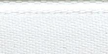 Молния riri атлас. никель,неразъем., 1замок 4мм,18см, тип подвески FLASH, цвет цепи Ni, цвет белый