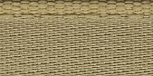 Молния riri атлас. никель,неразъем., 1замок 4мм,18см, тип подвески FLASH, цвет цепи Ni, цвет  золотисто-бежевый