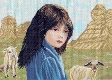 """Рисунок на канве 37х49см арт.906 """"Пастушка"""""""
