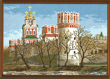 """Рисунок на канве 37х49см арт.915 """"Новодевичий монастырь"""""""