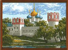"""Рисунок на канве 37х49см арт.921 """"Лето в Новодевичьем"""""""