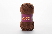 Пряжа Vita cotton COCO цвет 4306 светлый шоколад