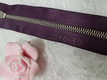Молния riri атлас. золото, разъем,1замок 4мм, 60см, тип подвески FLASH, цвет цепи GO, цвет темно-фиолетовый