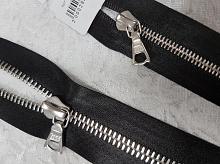 Молния riri атлас. никель,разъем., 1замок 4мм, 60см, тип подвески FLASH, цвет цепи Ni, цвет черный