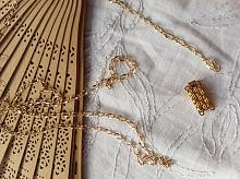 Цепь декоративная золотая