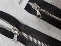 Молния riri атлас. никель,неразъем., 1замок 4мм,16см, тип подвески FLASH, цвет цепи Ni, цвет черный