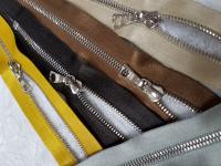 Молния riri атлас. никель,неразъем., 1замок 4мм,16см, тип подвески FLASH, цвет цепи Ni, цвет светло-коричневый